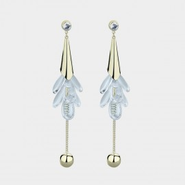 Caromay Crystal Petals Champagne-Gold Earrings (E3671)
