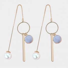Caromay Modern Rhythm Blue Earrings (E3678)