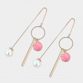 Caromay Modern Rhythm Pink Earrings (E3678)