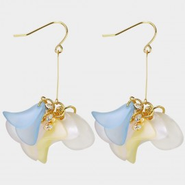 Caromay Colorful Petals Champagne-Gold Earrings (E3707)