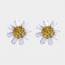 Caromay Full Bloom Daisy Yellow Earrings (E4118)