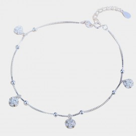 Caromay Snowy Day Silver Anklet (H0294)