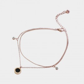 Caromay Remember Rose-Gold Anklet (H0465)
