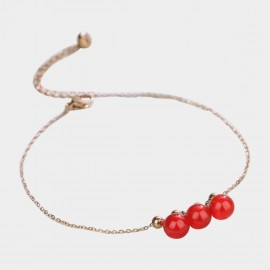 Caromay Miss Bead Red Anklet (H0467)
