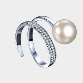 Caromay Snake Body Opening White Ring (J0336)