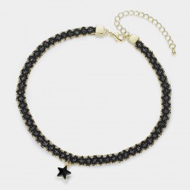 Caromay Astral Black Choker Necklace (X1644-1)