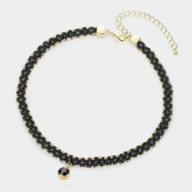 Caromay Astral Black Choker Necklace (X1644-3)