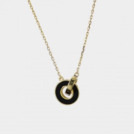 Caromay Intersection Champagne-Gold Necklace (X1930)