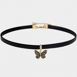 Caromay Attractive Butterfly Black Choker Necklace (X1932)