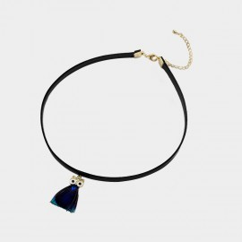 Caromay Night Owl Black Choker Necklace (X1936)