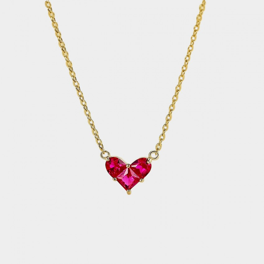 Caromay Hot Heart Rose Necklace (X1968)