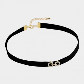 Caromay Double D Alphabet Gold Choker Necklace (X2033)