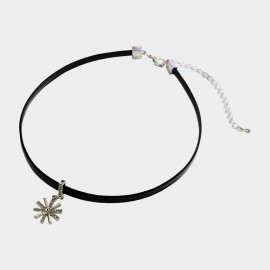 Caromay Sunflower Black Choker Necklace (X2035)