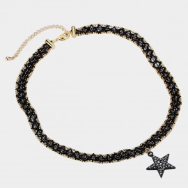 Caromay Night Star Black Choker Necklace (X2044)
