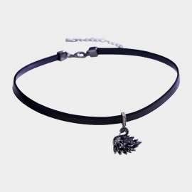 Caromay Baby Swan Black Choker Necklace (X2046)