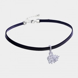 Caromay Baby Swan White Choker Necklace (X2046)