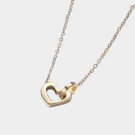 Caromay Invloved Heart Gold Necklace (X2073)