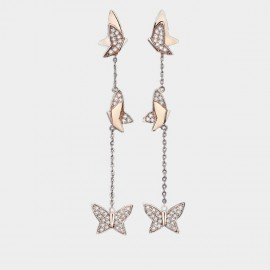 Caromay Butterfly Vine Rose-Gold Earrings (E3644)