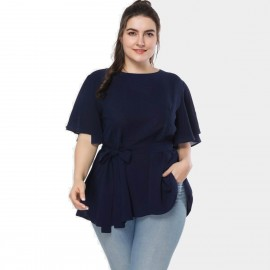 Amtivaya Soft V-Neck Navy Tank Top (HY3042)