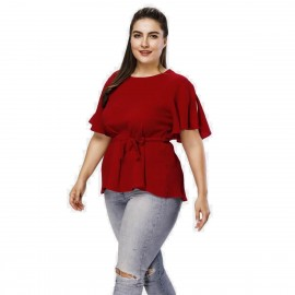 Amtivaya Soft V-Neck Red Tank Top (HY3042)