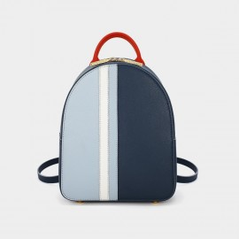 Dreabasaa Mini Tri-Colour Blue Backpack (Dr-18044980)