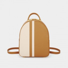 Dreabasaa Mini Tri-Colour Brown Backpack (Dr-18044980)