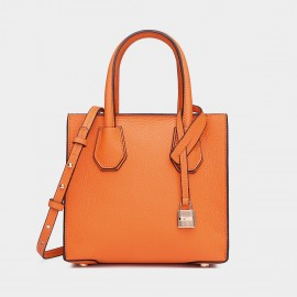Cilela Clean-Lined Orange Tote (1618S)