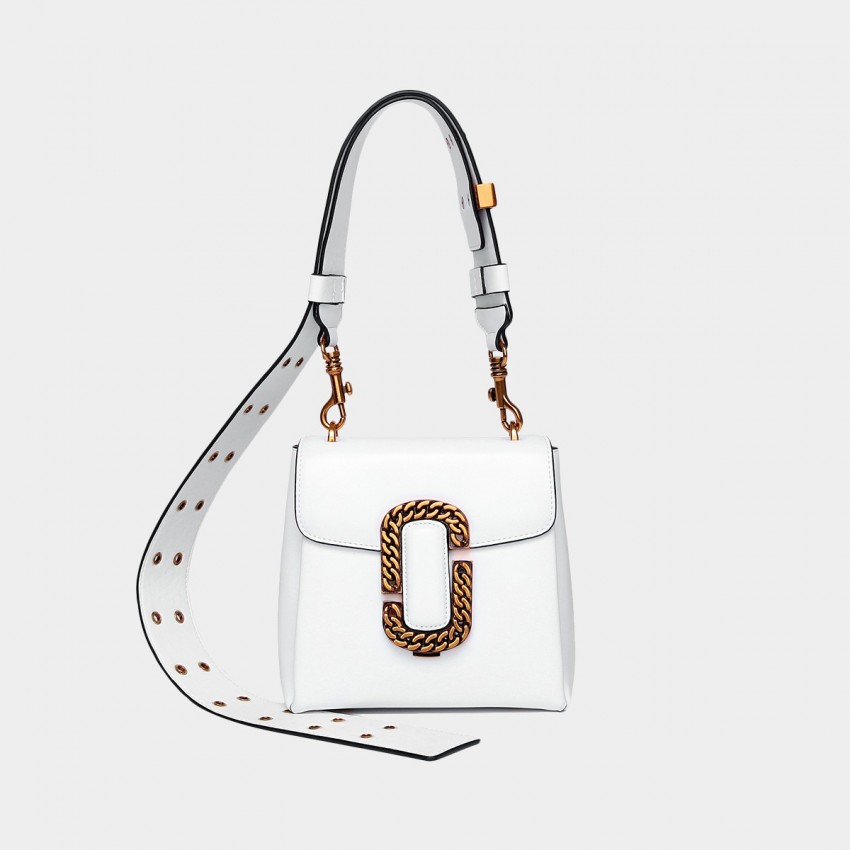 Cilela Metallic White Shoulder Bag (9255S)