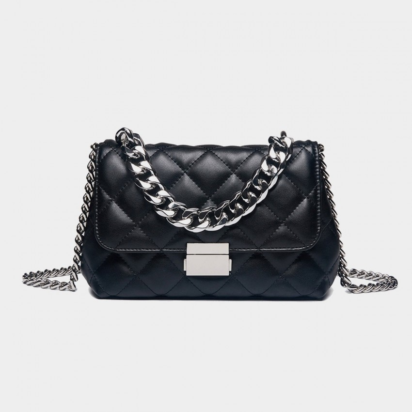 Cilela Vintage Black Shoulder Bag (CK-0615)
