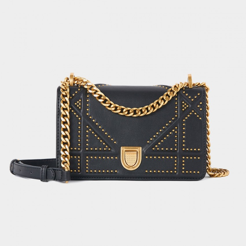 Cilela Bead Stud Black Shoulder Bag (CR0113)