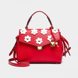 Cilela Floral Red Satchel (CR0125)