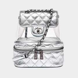 Cilela See-Through Silver Backpack (CR0327)