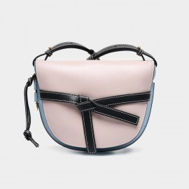 Cilela Leather-Twisted Knot Apricot Shoulder Bag (CR0409)