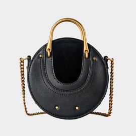 Cilela Circle Black Shoulder Bag (CR0424)