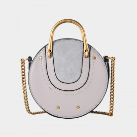 Cilela Circle Grey Shoulder Bag (CR0424)