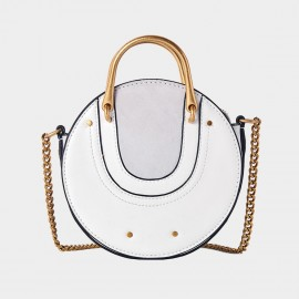 Cilela Circle White Shoulder Bag (CR0424)