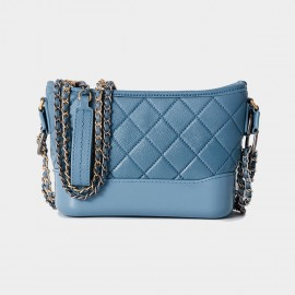 Cilela Diamond Quilted Classic Blue Shoulder Bag (CR0516)