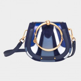 Cilela Semicircle Navy Shoulder Bag (CR0606L)