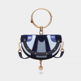 Cilela Semicircle Navy Shoulder Bag (CR0606M)