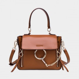 Cilela Ring Loop Brown Shoulder Bag (CR0815)