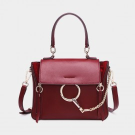 Cilela Ring Loop Red Shoulder Bag (CR0815)