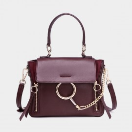 Cilela Ring Loop Wine Shoulder Bag (CR0815)