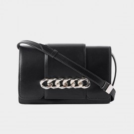 Cilela Interlocked Hoop Black Shoulder Bag (CR0818)