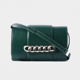 Cilela Interlocked Hoop Green Shoulder Bag (CR0818)