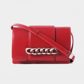 Cilela Interlocked Hoop Red Shoulder Bag (CR0818)