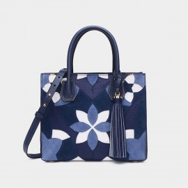 Cilela Floral Navy Tote (CR0823L)