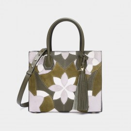 Cilela Floral Green Tessal Tote (CR0823S)