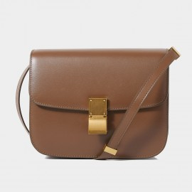 Cilela Classic Flodover Brown Shoulder Bag (CR0923L)