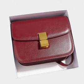 Cilela Classic Flodover Wine Shoulder Bag (CR0923L)