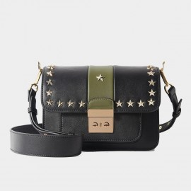 Cilela Star Rivet Green Shoulder Bag (CR1088)